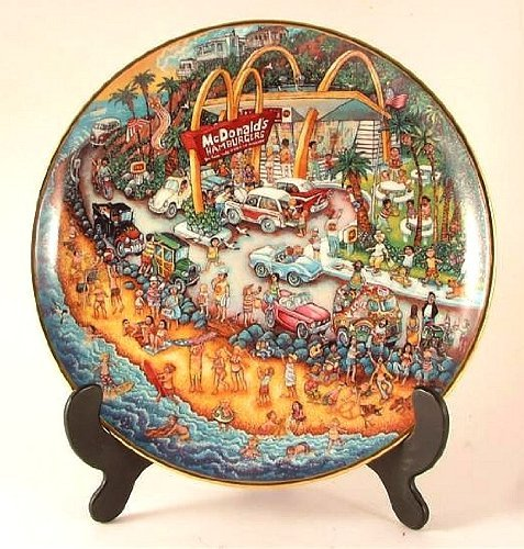 Franklin Mint Bill Bell McDonalds plate - Golden Summer - CP959 (Franklin Mint Bill Bell Plate)