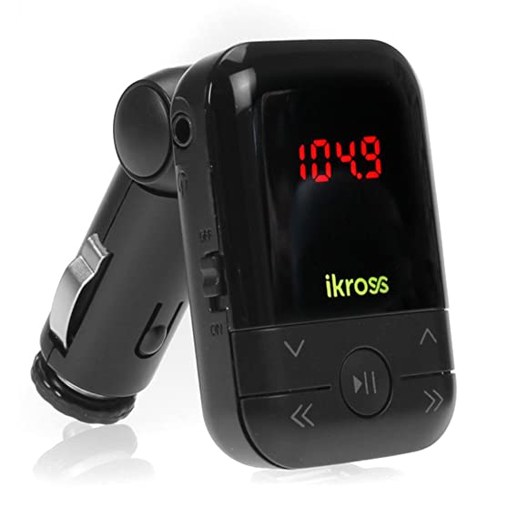 Amazon.com: iKross negro LED coche Transmisor de radio FM ...