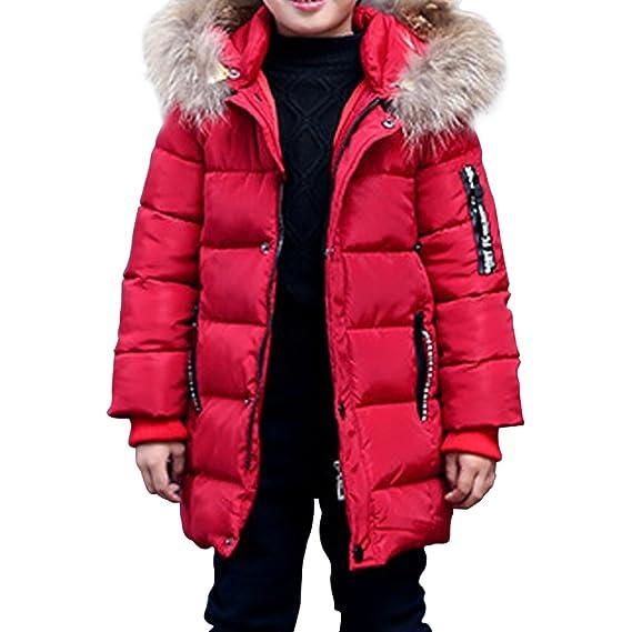 Phorecys Garcon Manteau D Hiver Avec Capuche Fourrure Enfant Parka