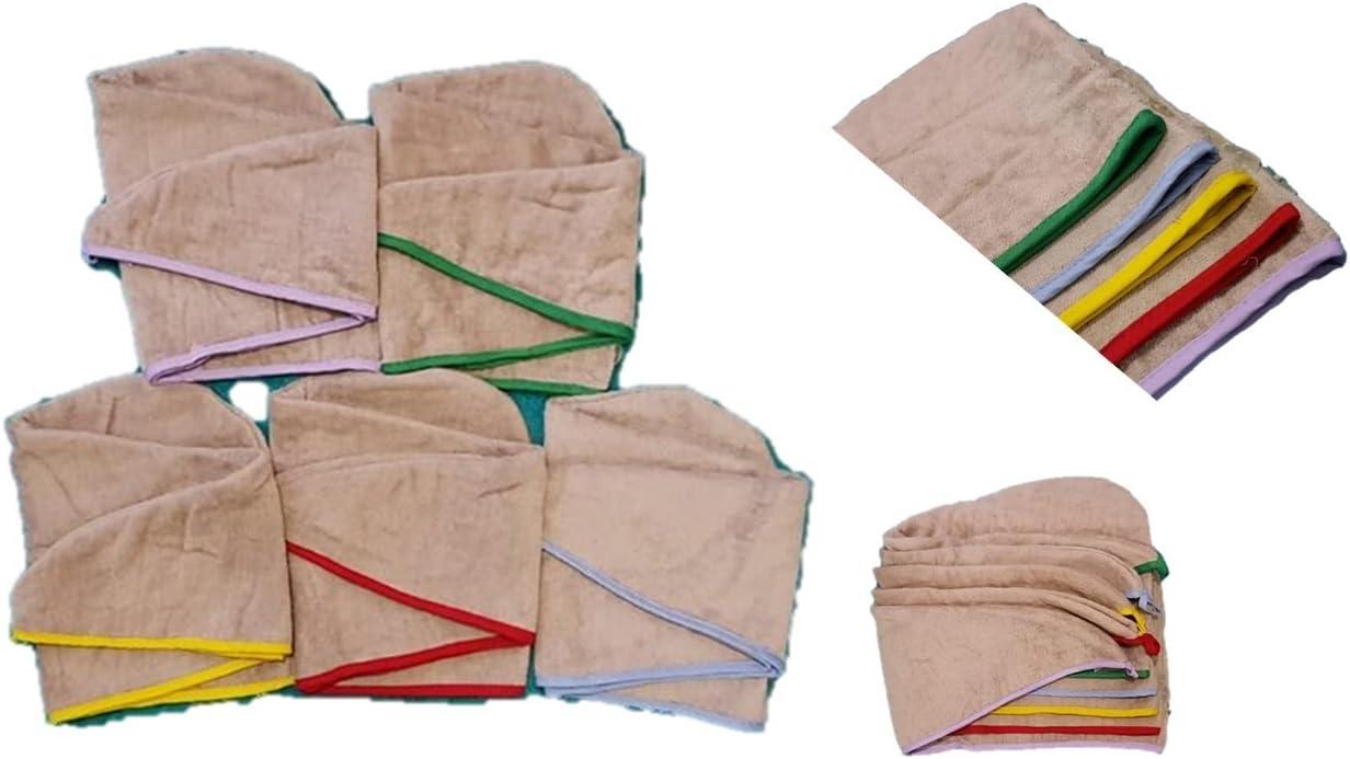 vari colori Asciugamano a turbante in 100/% cotone con motivo stampato a righe Extra Exquisite taglia unica taglia unica motivo floreale Any Color