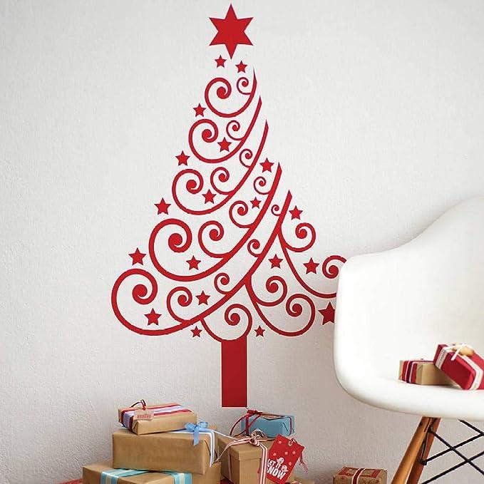 Árbol de Navidad Pegatinas de Pared Nuevo Apliques a ...