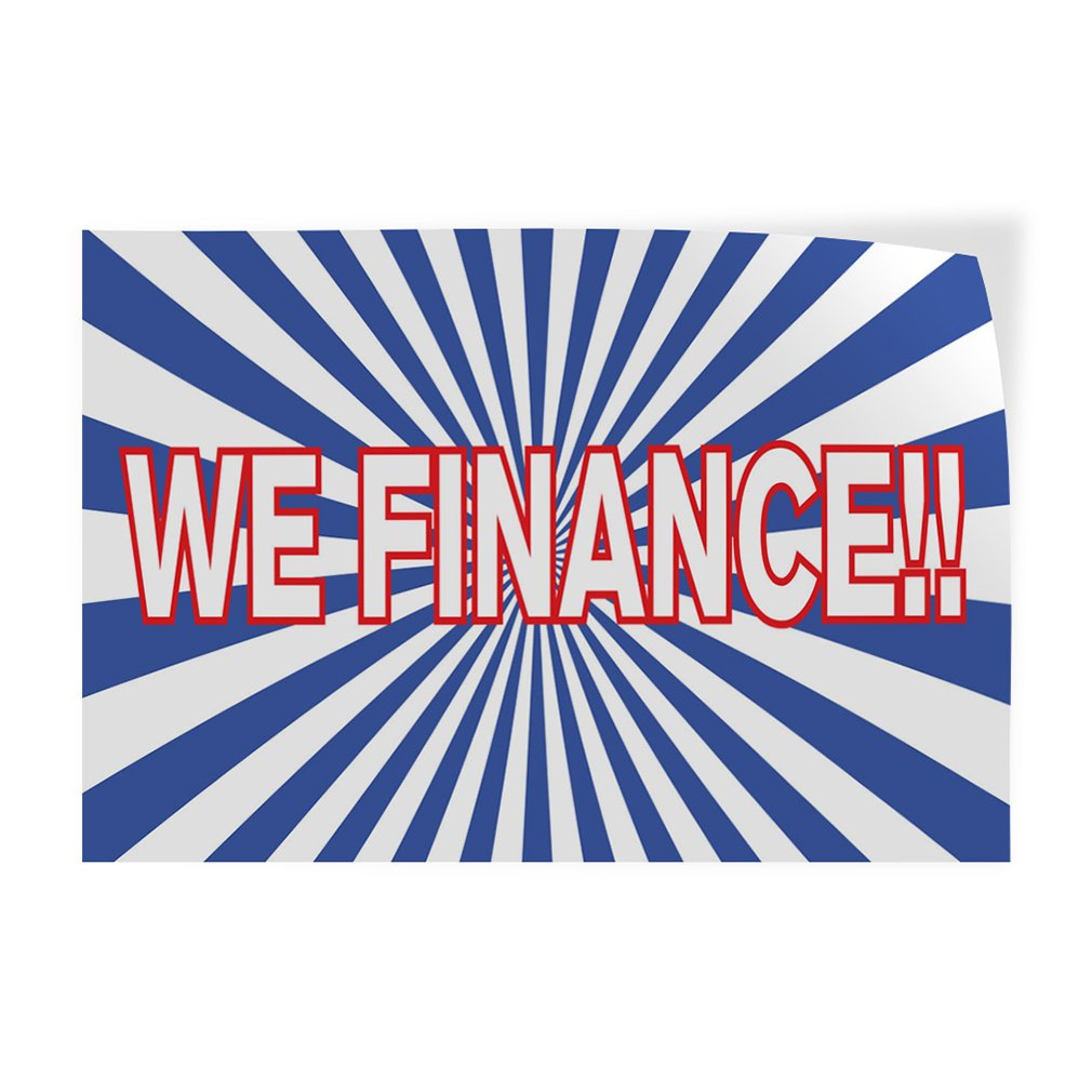 Set of 10 Decal Sticker Multiple Sizes We Finance! 14inx10in #1 Business Deals Outdoor Store Sign Aqua-Blue