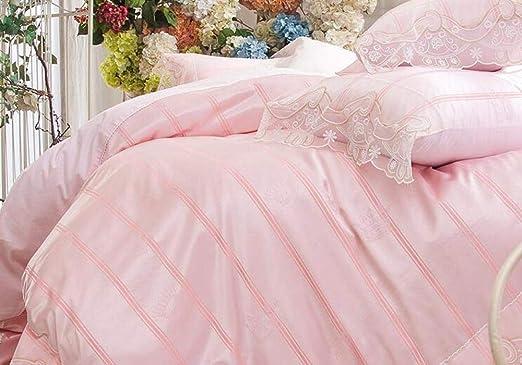 FJXJLKQS Conjuntos De Ropa De Cama De Flores De Seda Satinada De 4 Piezas King Bed Size Duvet Cover S/ábana Ajustable Fundas De Almohada Set by,Brown-Kingsize:200x230