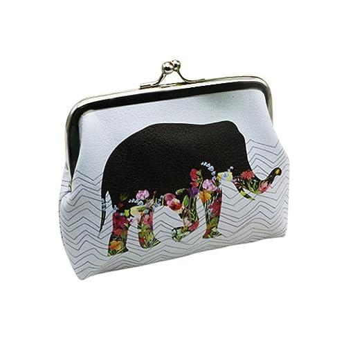 Morwind Bolso tipo cartera, bolsos de mano bolso de mano con estampado de flores bolso
