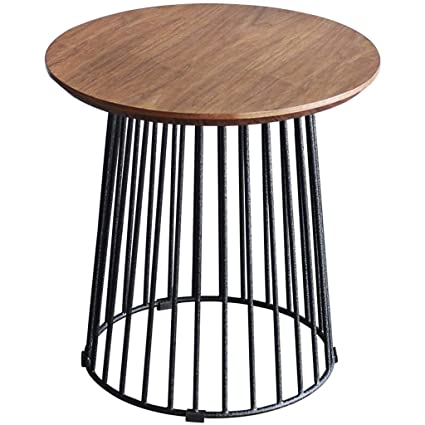 Amazon Com Round Wrought Iron End Table Living Room Bedroom Balcony