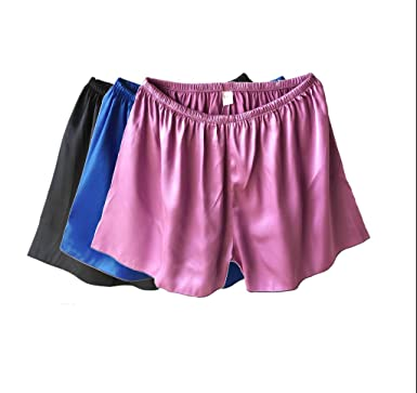 Wantschun Womens Girls Satin Silk Sleepwear Pyjamas Shorts Pants Nightwear  Loungewear Pajamas Bottom Trousers Black+ b863c6983