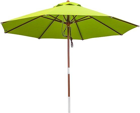 anndora Sonnenschirm 4 m rund Natural edler Holzsonnenschirm Gartenschirm robust