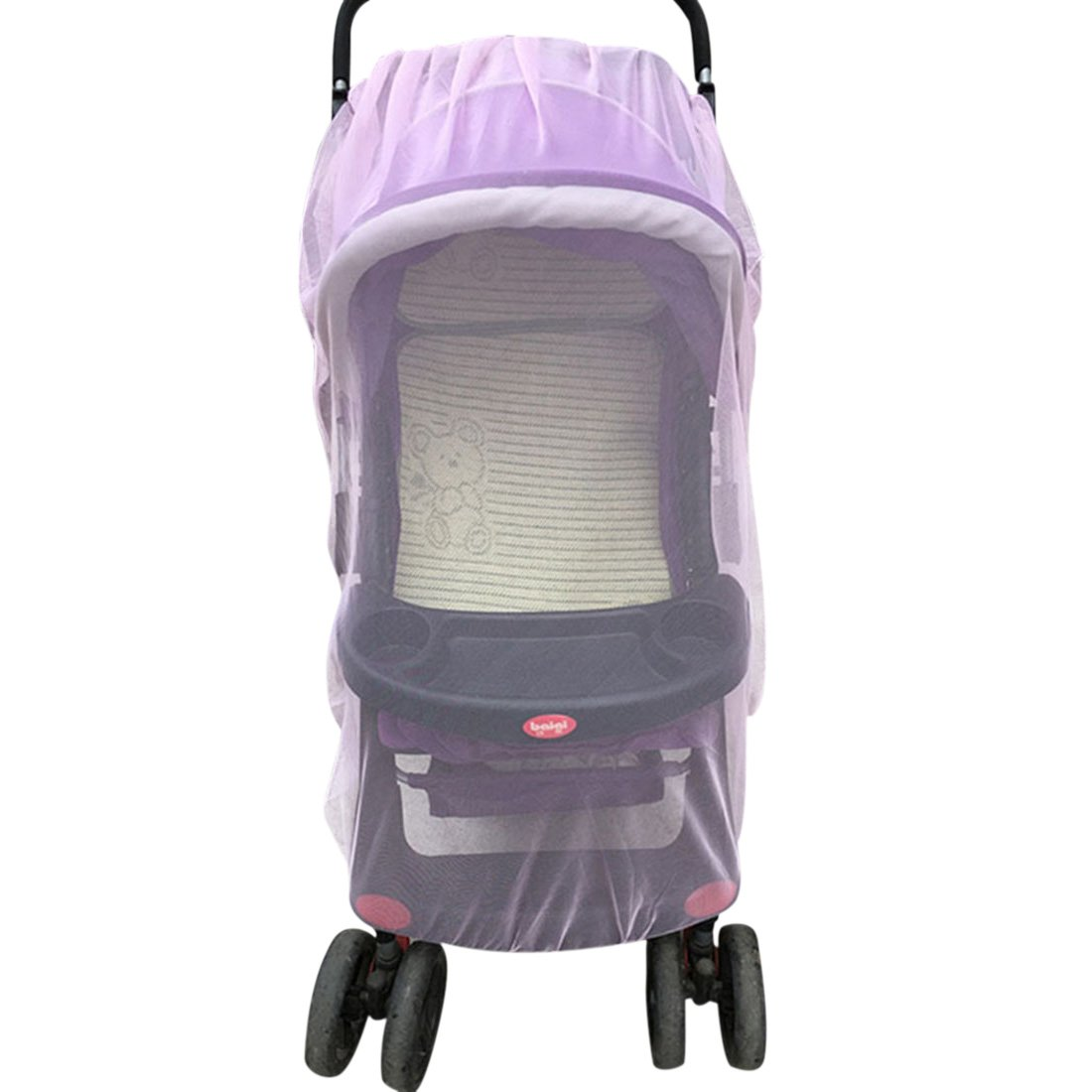 Freahap Baby Stroller Mosquito Net Pushchair Infants Safe Anti Insect Mesh Cover Pink Beautylife88