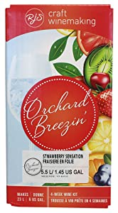 Monster Brew Home Brewing Supplies Orchard Breezin Mist Strawberry Riesling Wine Kit