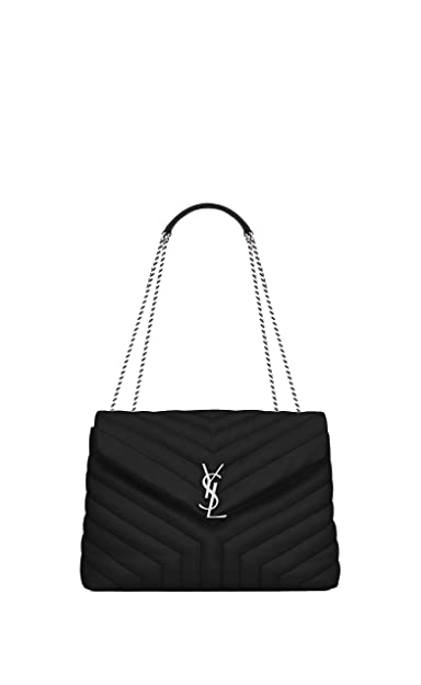 Paper Yves Saint Laurent monogramme loulou loulou medium in matelasse-y- leather shoulder bag aca1a53744675