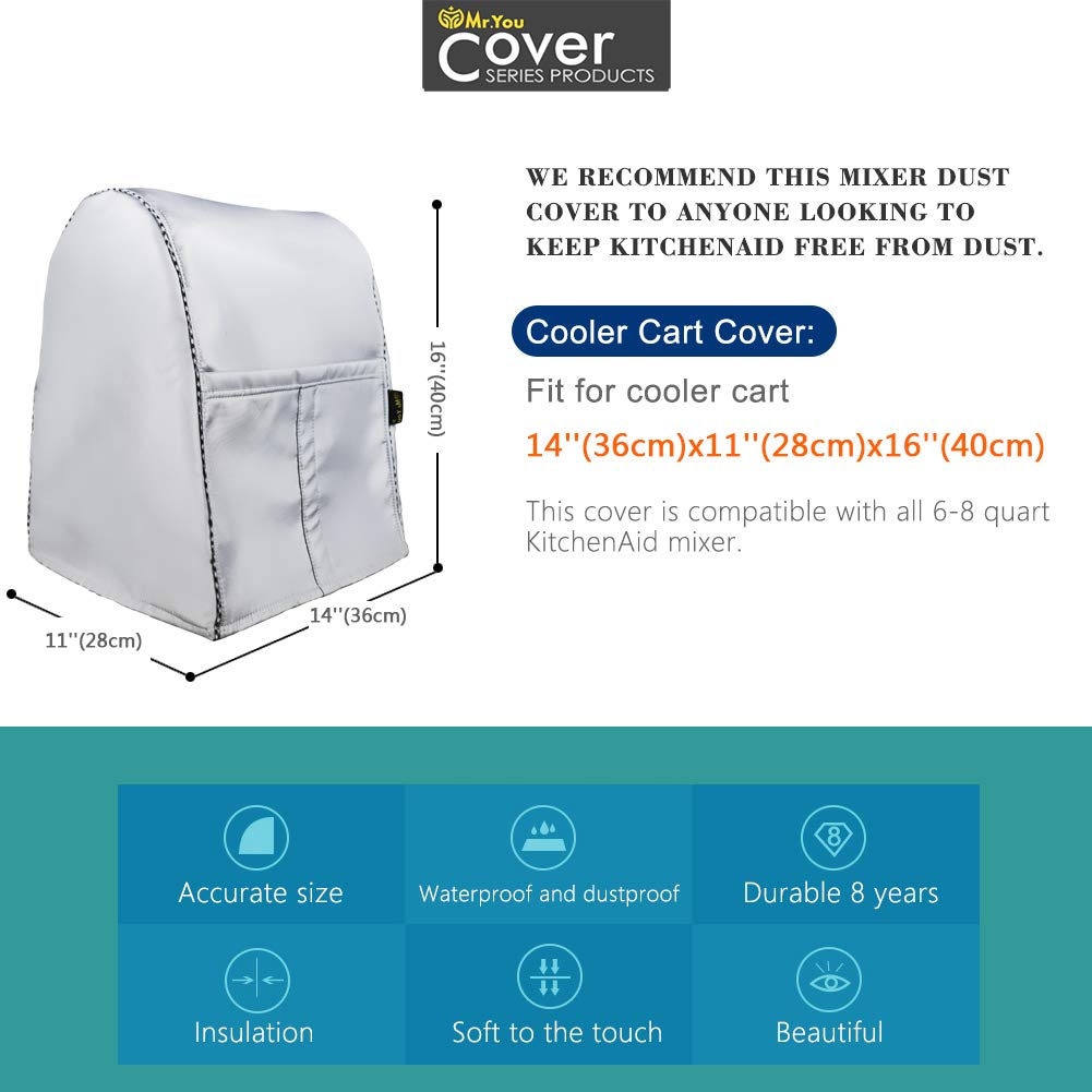 W14D11H17in,Blue Plume Stand Mixer Cover//Kitchen Mixer Cover with Organizer Bag Fits All Tilt Head /& Bowl Lift Models