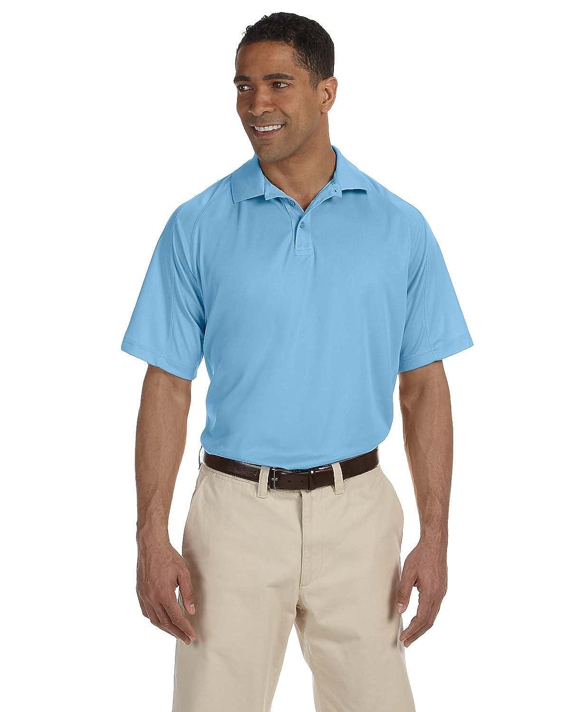 Harriton Men/'s Mesh Insert Polo Shirt