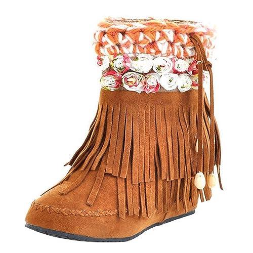 Botines cuña para Mujer Otoño Invierno 2018 Moda PAOLIAN Botas Militares Planos Zapatos Vestir Talla Grande Señora Calzado Terciopelo Dama Botas de Nieve ...