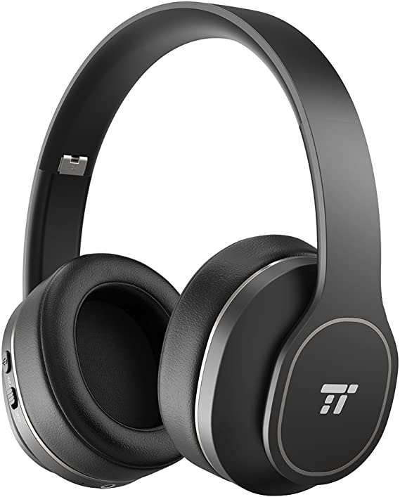 Amazon Com Taotronics Active Noise Cancelling Bluetooth Headphones Durable Over Ear Headphones With Soft Protein Ear Pads 24 Hour Playtime Foldable Cvc 6 0 Noise Cancelling Mic Wireless Headphones