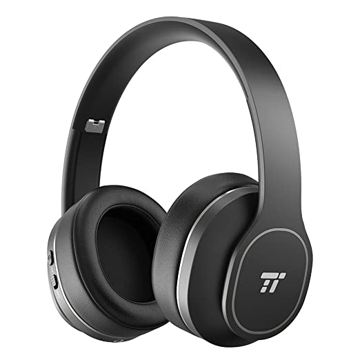 TaoTronics Active Noise Cancelling Bluetooth Headphones, Durable Over Ear Headphones with Soft Protein Ear Pads & 24 Hour Playtime, Foldable, CVC 6.0  at amazon