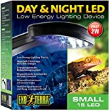 Exo Terra Day and Night LED Light Fixture Small (14 white/1 blue LED) Small