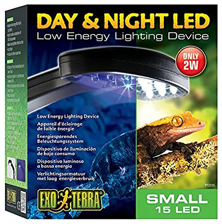 amazoncom exo terra pt2335 daynight led fixture small pet supplies