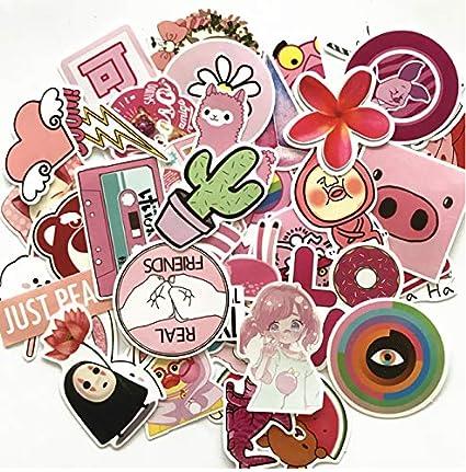 GMADD Pink Cartoon Cute Rilakkuma Mix Laptop Stickers DIY ...