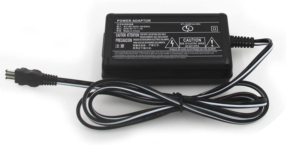 AC Adaptor//Charger for Sony HandyCam CCD-TRV51 CCD-TRV57 CCD-TRV58 Camcorder