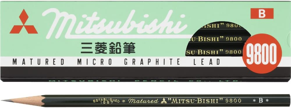 Mitsubishi Pencil pencil 9800 B K9800B dozen by Mitsubishi Pencil Co. Ltd. 12 pieces