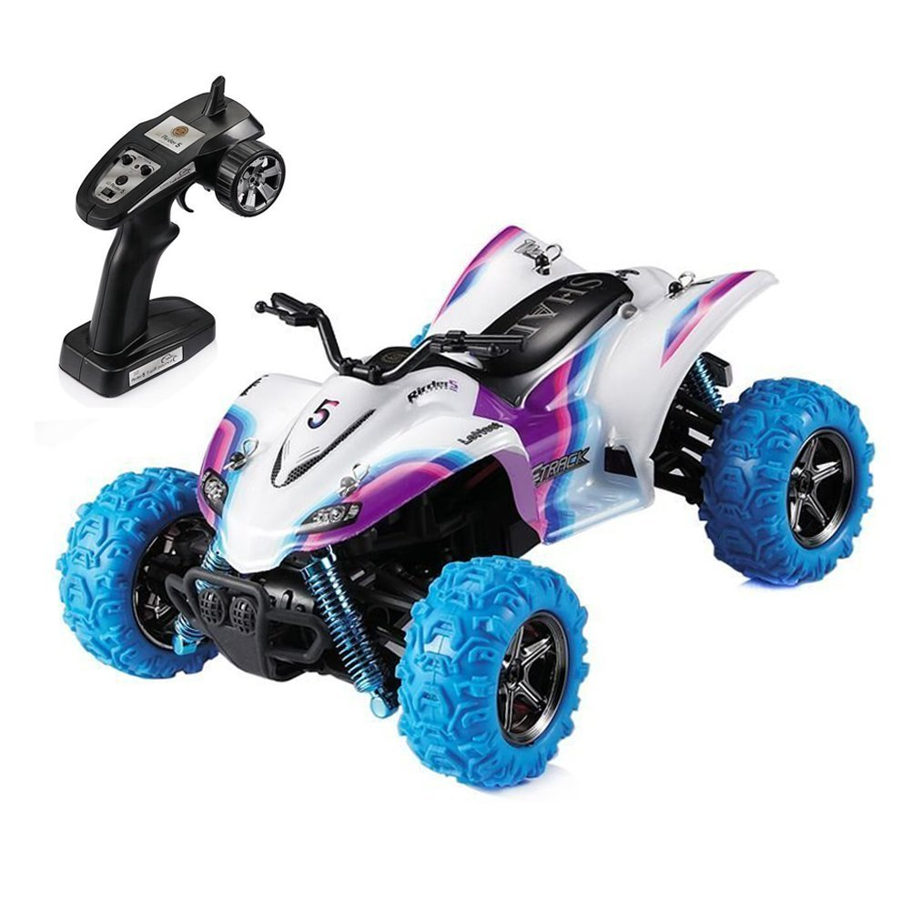 GPTOYS RC Car Rirder 5 Monster Trucks, Remote Control High Speed S609 ATV Off Road Truck Outdoor Toys White
