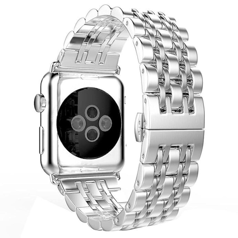 AloneAステンレススチール時計バンドストラップMetal Clasp for Apple Watchシリーズ1 / 2 38 mm  B01LYJI4YS