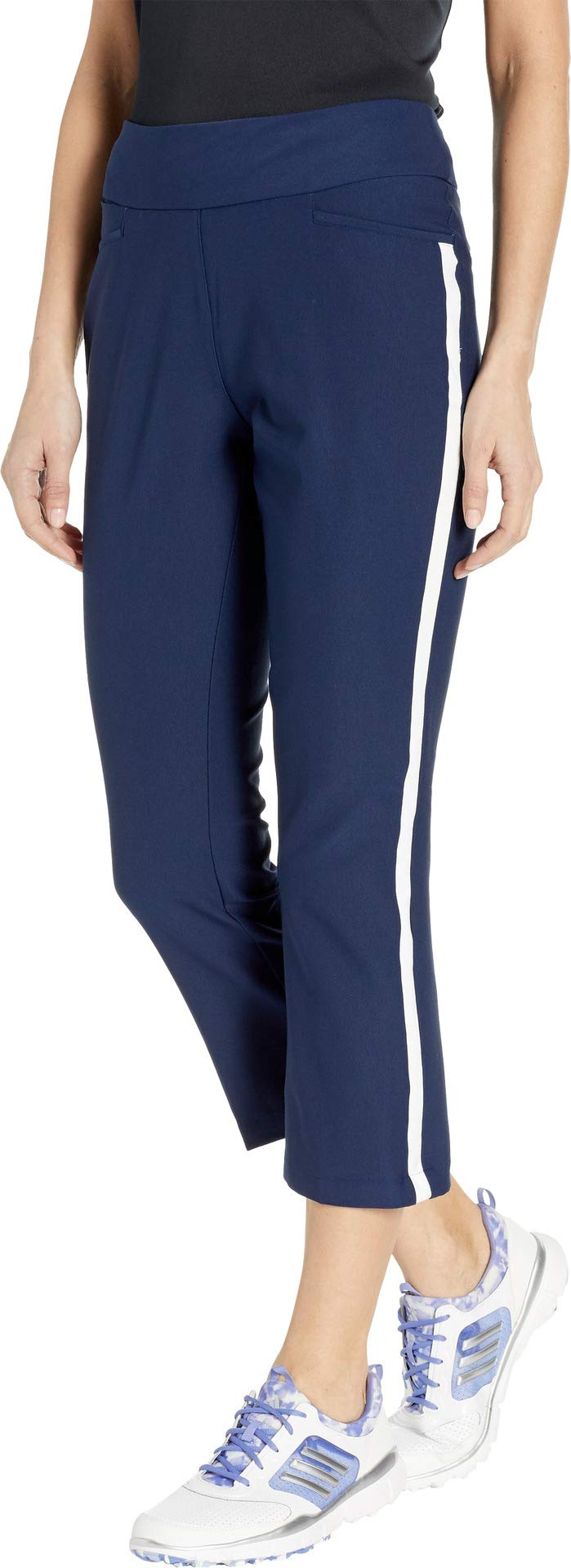 adidas Golf Novelty Flair Cropped Pant, Night Indigo, X-Large by adidas