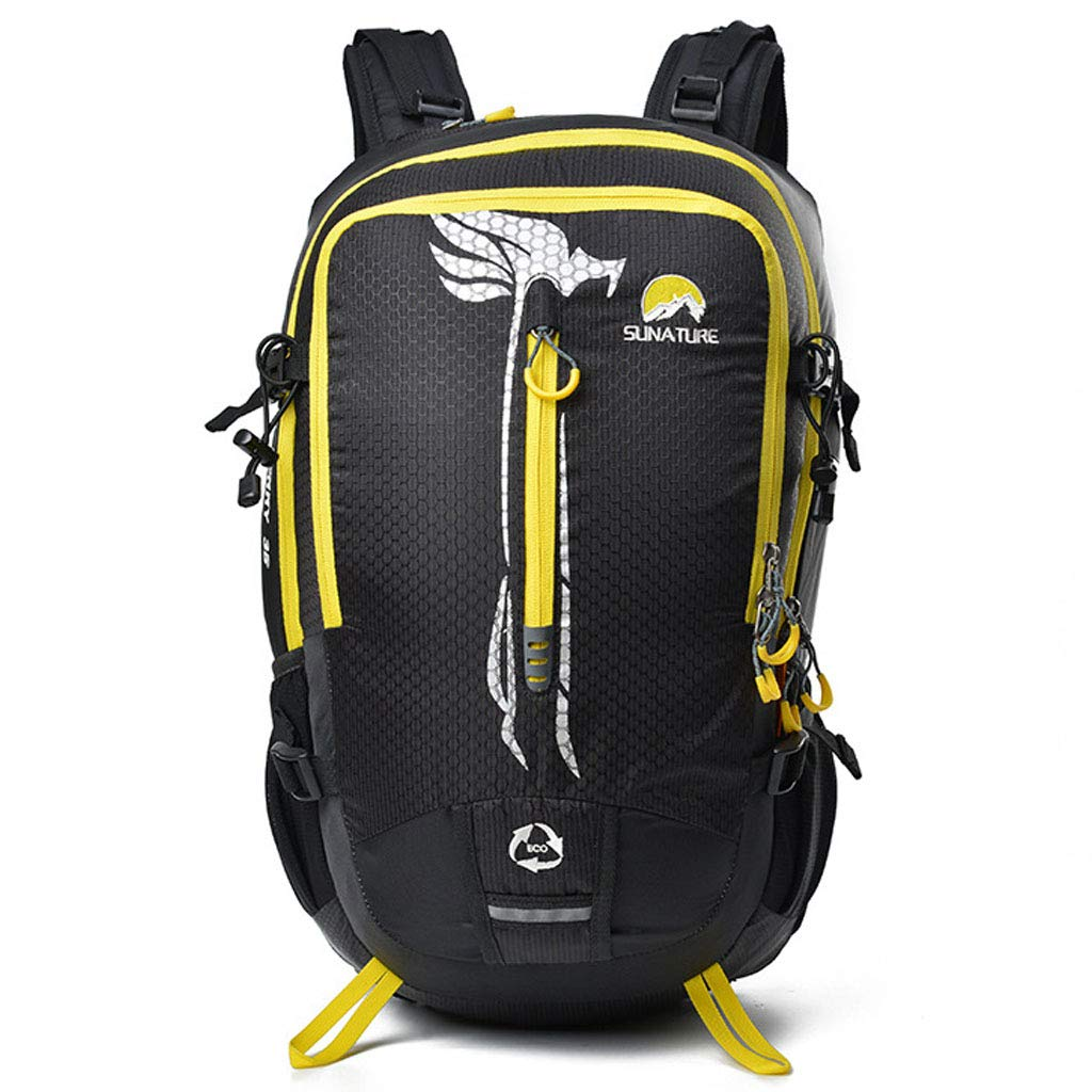 アウトドア登山バッグスポーツメンズ組み合わせ使用新しいハイキングバックパックハイキング防水透湿防災大容量バックパック  black B07QSHZ2T3