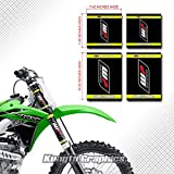 Kungfu Graphics WP Upper Mid Fork Tube Decal Kit (Pack of 4), Black