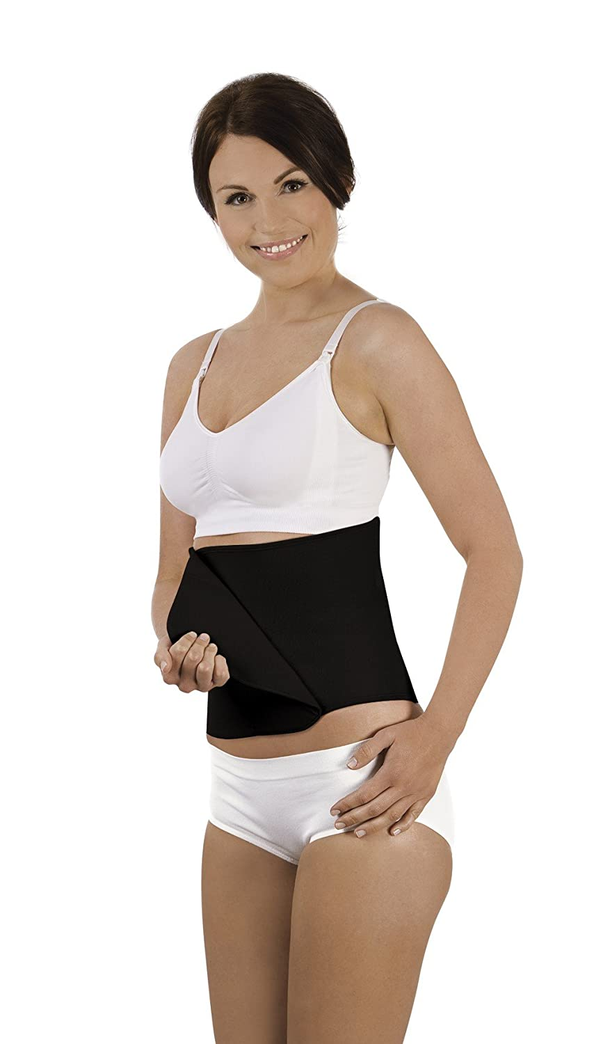 Carriwell Adjustable Organic Cotton Belly Binder (Small/Medium, Black) 185