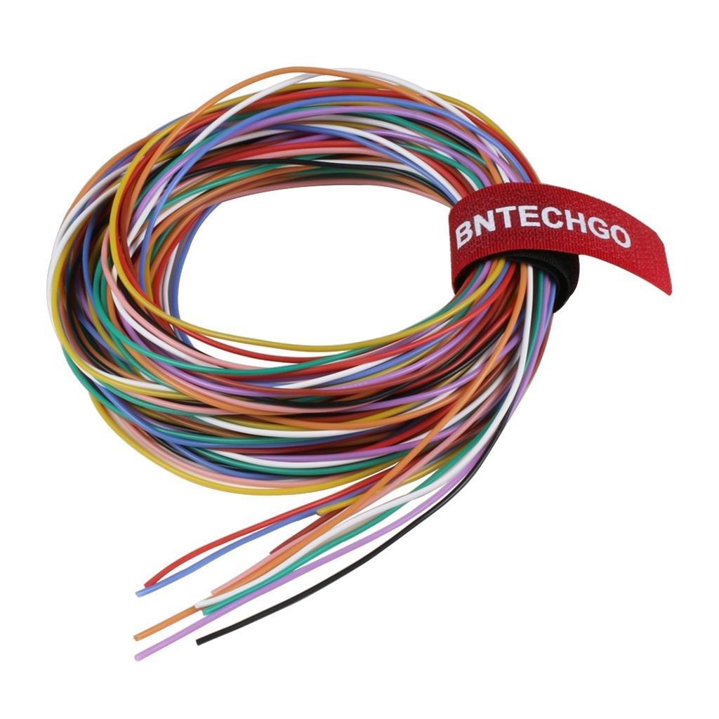BNTECHGO® 0,32 mm Silikondraht, weich und flexibel, beständig gegen ...