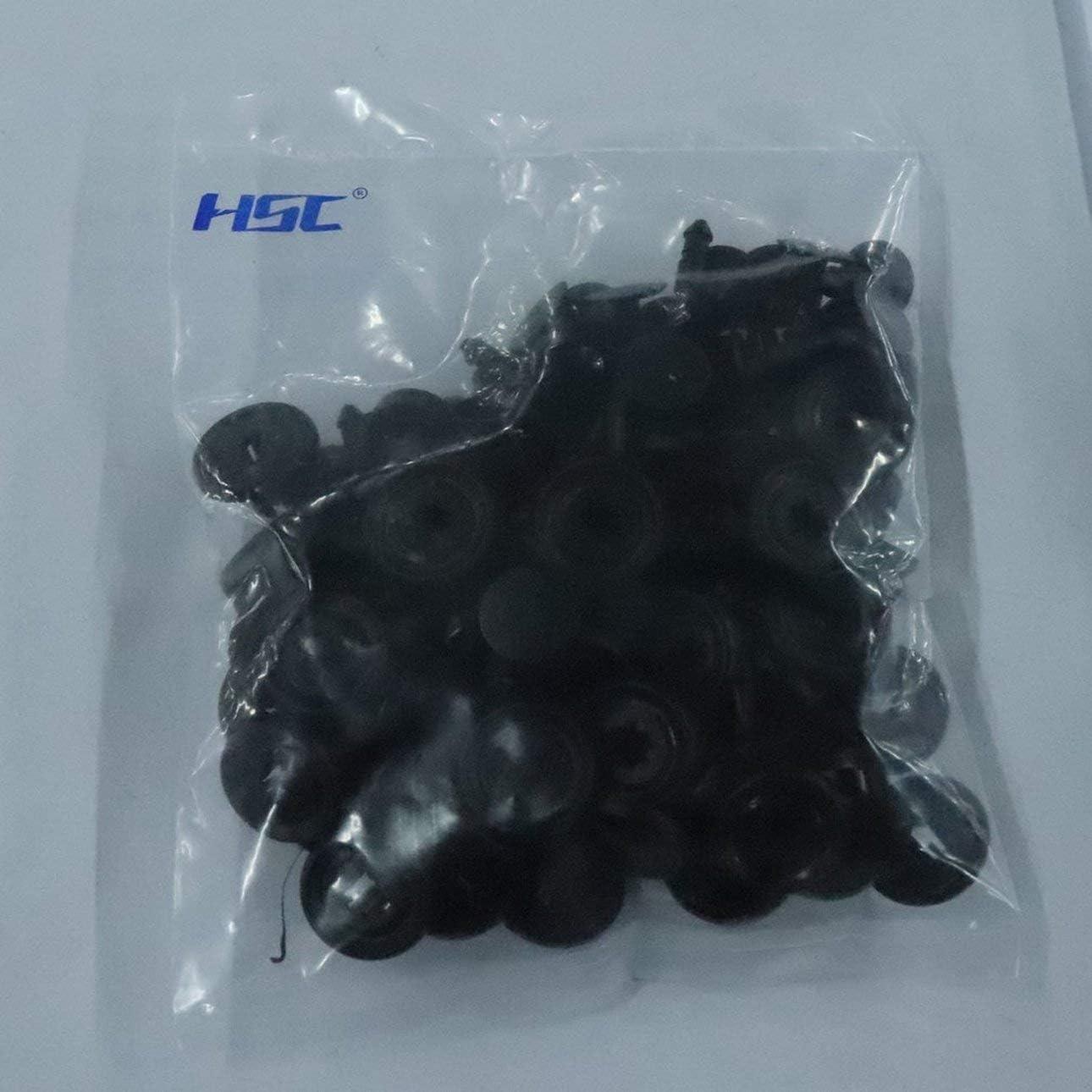 Ballylelly 12315 7mm plastique 50pcs Porti/ère Pare-chocs pour TOYOTA Fastener Boucle