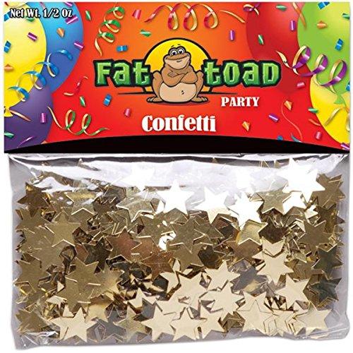 0.5 Ounce Confetti Stars - Axiom International 348CON-05 Gold Stars Confetti, 0.5-Ounce