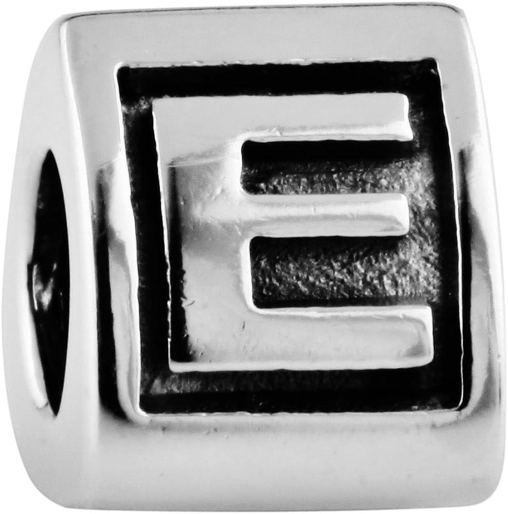 925 Sterling Silver Women Letter A-Z Charms European Bracelet