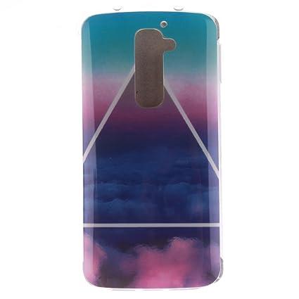Guran® Silicona Funda Carcasa para LG G2 Smartphone Case Bumper Shock TPU Cover-Nube de triángulo