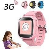 【日本正規代理店品】Oaxis 子供用 iPhone/Android連動スマートウォッチ 活動量計 SOS発信 離れたらアラーム WiFi/Bluetooth/GPS ボイスレコーダー MicroSIMカード対応 Pink