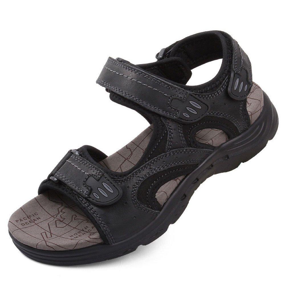Sandalias De Los Hombres Zapatos De Playa Al Aire Libre Casual Moda Velcro Antideslizante 41 EU|Black