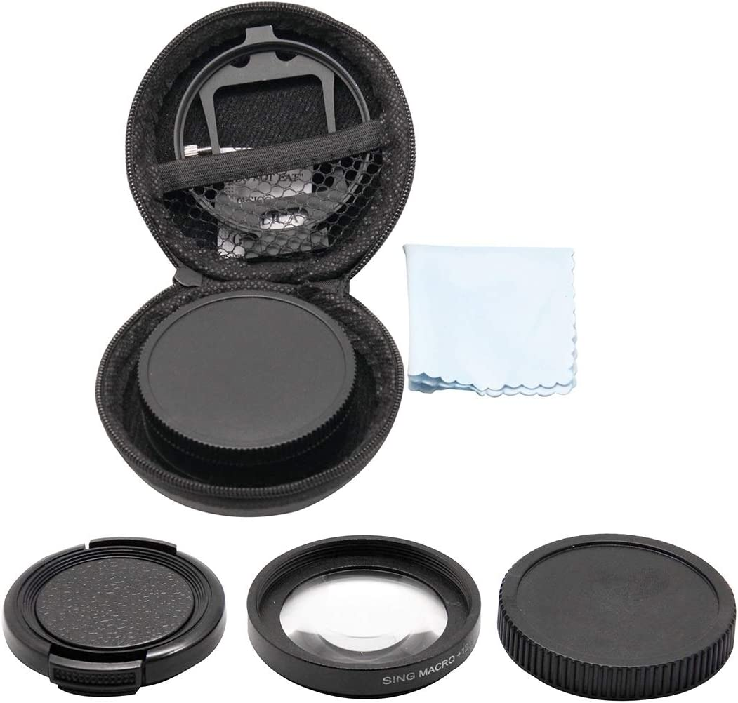 CYcaibang Lens Accessories 58mm HD Macro Lens with Adapter Ring for GoPro HERO5 Session //HERO4 Session