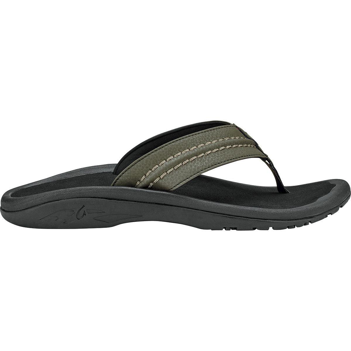 Kona Black OluKai Men's Hokua Thong Sandal