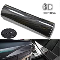 BangShou Autofolie Carbon Folie 6D Autofolie Vinyl Wrap DIY Autofolie met Luchtkanalen Verdikte Decoratieve 300 x 30 cm…