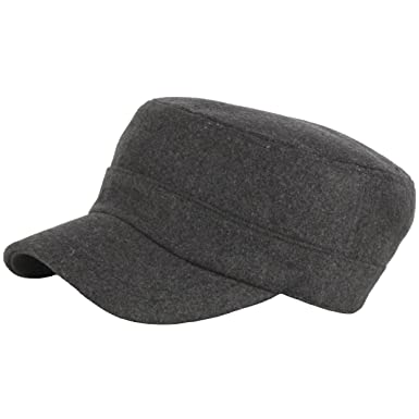 af28974cf27 RaOn A156 Pre-curved Wool Winter Warm Simple Design Club Army Cap Cadet  Military Hat (DarkGray) at Amazon Men s Clothing store