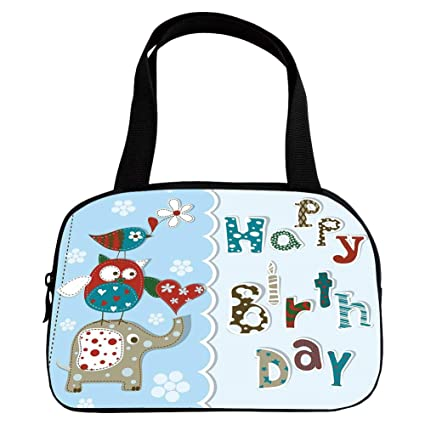 e9d284e89 Multiple Picture Printing Small Handbag Pink,Birthday Decorations for  Kids,Patchwork Inspired Owl Birds