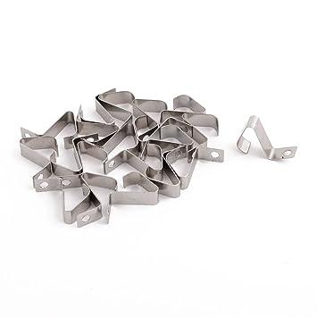 20 für AAA AAAA Batterie Positiv Negativ Kontaktplatte Federplatte Silber Platte