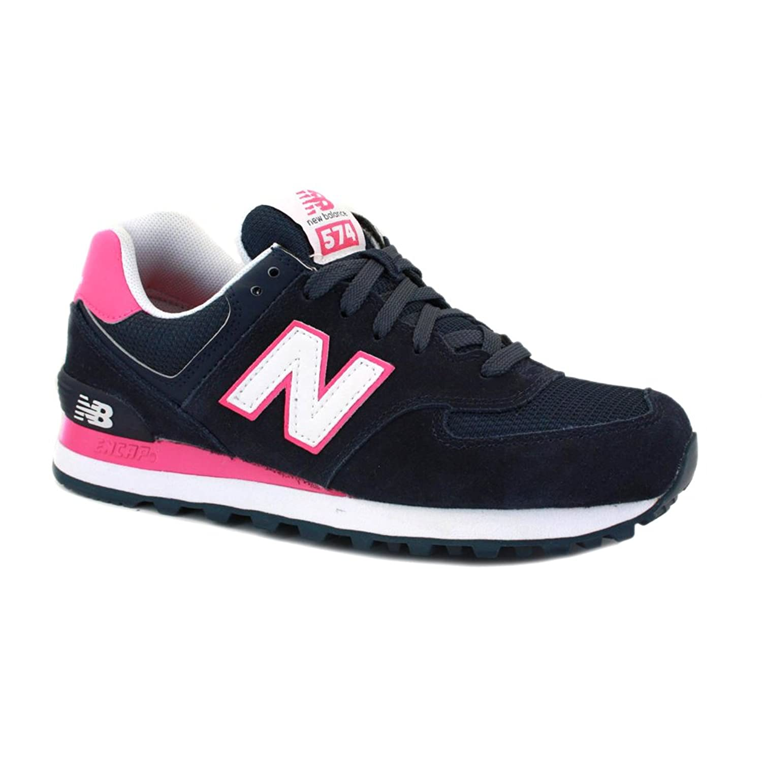 New Balance 574 Womens Navy Rosa Ez53e
