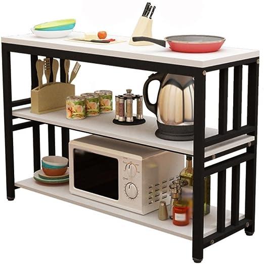 GZD Estantería de cocina estantería de almacenamiento cocina mesa ...