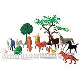 Miniatura Colecionável Fazendinha Completa com 20 Peças Blister Brasilflex