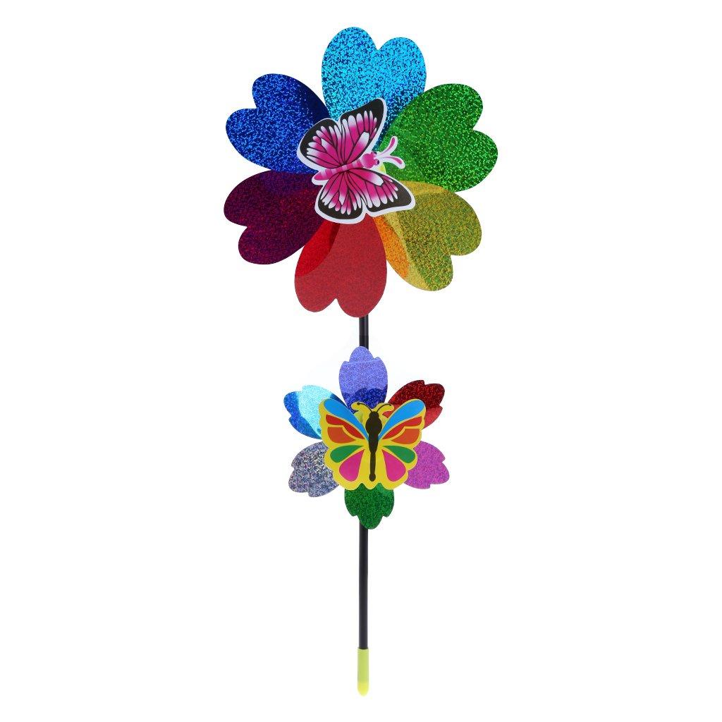 Lisanl Moulin à vent à paillettes colorées pour la maison, le jardin, la cour