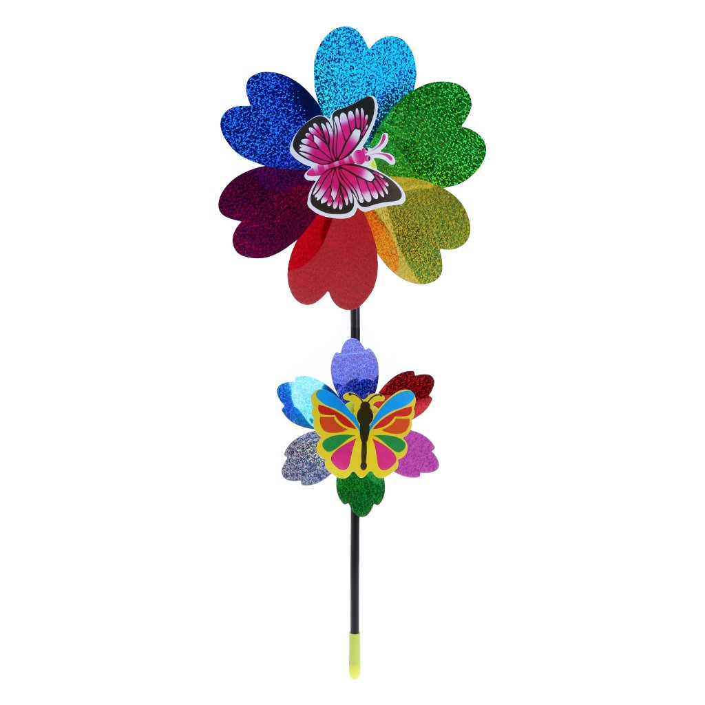 YUAYAN - Colorful Sequins Windmill Wind Spinner Home Garden Yard Decoration Kids Toy