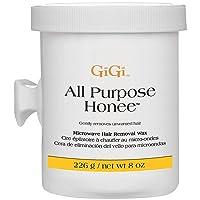 GiGi All Purpose Honee - Microwave Hair Removal Wax, 8 Ounces
