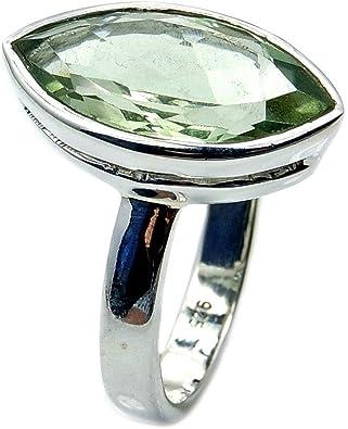Green Quartz Ring 7-8 Prasiolite Ring Green Quartz Ring Size 7-8 Prince Cut Green Amethyst Ring Green Amethyst Ring